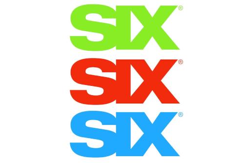 SIX logo auto decal or bumper sticker