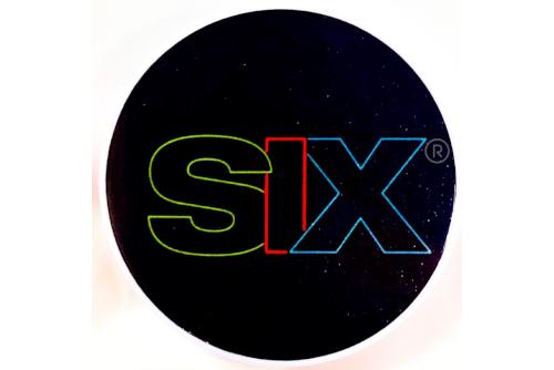 SIX neon logo PopSocket design
