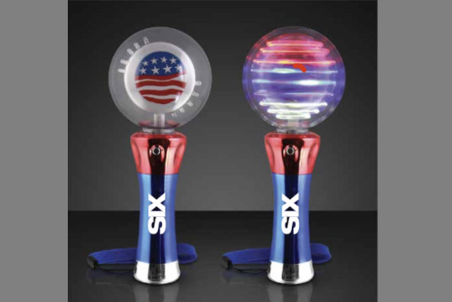 USA flag spinner with SIX logo and wrist strap